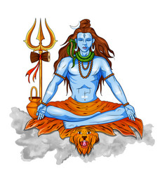 Lord shiva indian god hindu for shivratri vector