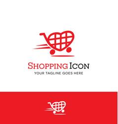 Love to shop heart shopping cart logo vector