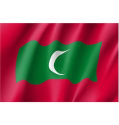 Maldives flag flat style vector