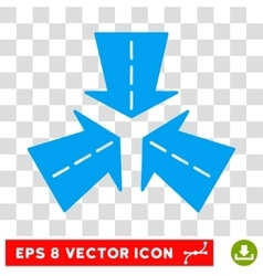 Merge Directions Round Eps Icon vector