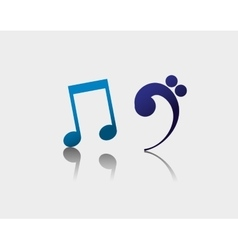 Music notes sound art vector