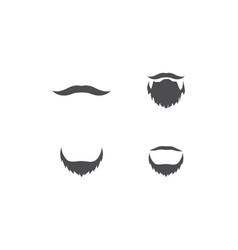 mustache logo vector image