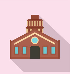 Old retro house icon flat style vector