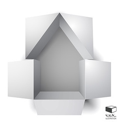 Paper box of an apartment house vector image