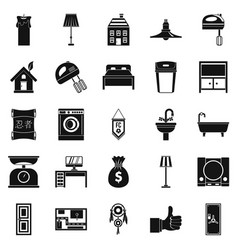 Placement icons set simple style vector