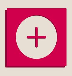 Positive symbol plus sign grayscale vector