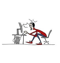 Programmer at work sketch for your design vector image