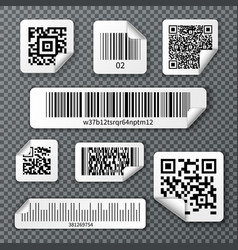 qr bar codes stickers set vector image