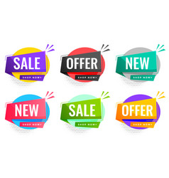 Sale and offers labels set for business promotion vector