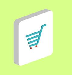 shopping cart computer symbol vector image