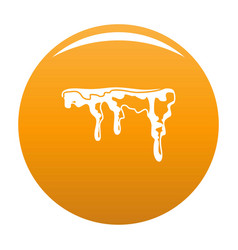 Snowdrift icon orange vector