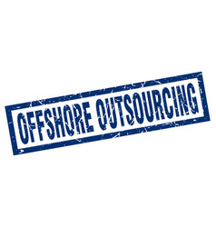 square grunge blue offshore outsourcing stamp vector image