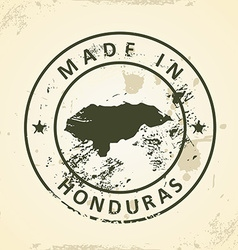 Stamp with map of Honduras vector image