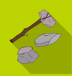 Stone tools icon in flate style isolated on white vector