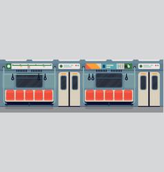 subway or underground car interior vector image