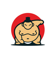 Sumo japanese mascot design vector