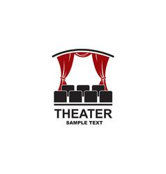 theatrical scene icon vector image