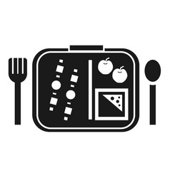 Time to lunch icon simple style vector