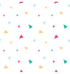 Triangle confetti seamless pattern vector