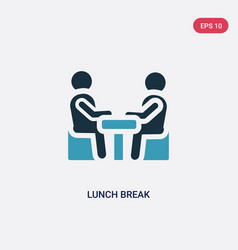Two color lunch break icon from people concept vector