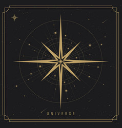 Universe background vector