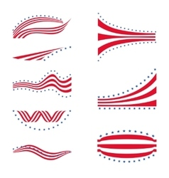USA star flag logo stripes design elements vector