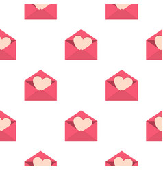 valentine heart pattern seamless vector image