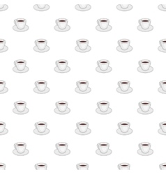 White cup of coffee pattern cartoon style vector
