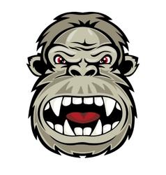 Wild gorilla vector image