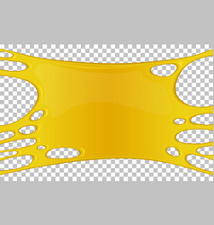 Yellow sticky slime banner with copy space vector