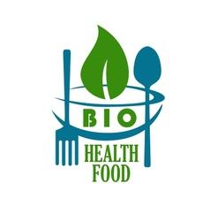 Bio health food icon vector image vector image