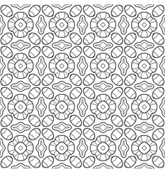 Black white seamless pattern Decorative ornament vector image vector image