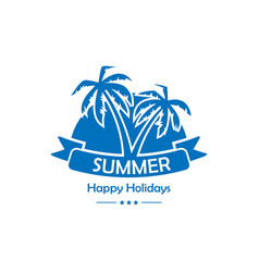 palms summer background vector image vector image