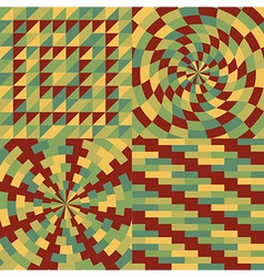 Set of four geometric pattern vector image vector image