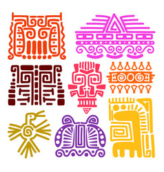 american indians ancient totems vector image