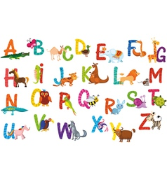 animals alphabet vector image vector image