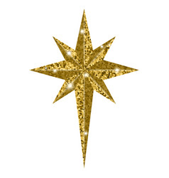 bethlehem christmas golden star isolated on white vector image vector image
