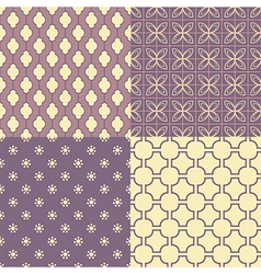 Set of four seamless abstract patterns vector image vector image