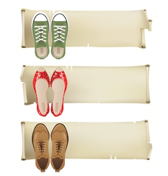 shoes banners vector image