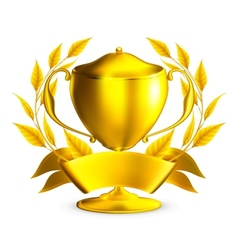 Trophy gold vector image vector image