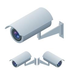 Video surveillance isometric Surveillance and CCTV vector image