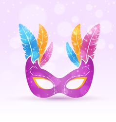 Violet carnival flat mask with multicolored vector image vector image