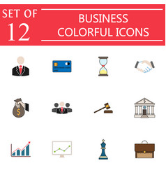 Business flat icon icon set finance and managment vector