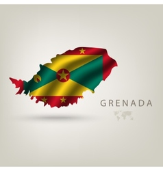 Flag of GRENADA as a country with a shadow vector image vector image