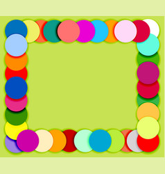 Frame made of color circles 2 vector image vector image