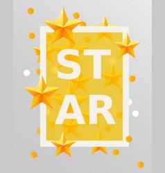 golden stars design elements best of the concept vector image vector image