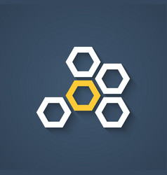 honeycomb icon with shadow vector image vector image