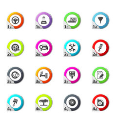 vehicle service station icons set vector image vector image