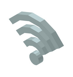 wi-fi 3d icon isolated on vector image