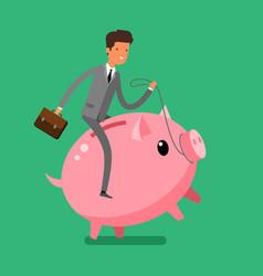 concept of saving money vector image